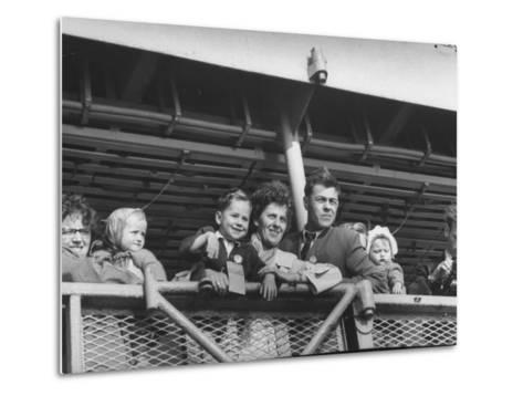 Immigrants from Europe Arriving in Us--Metal Print