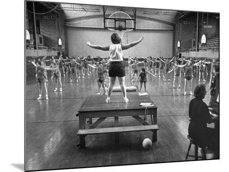 Calisthenics in the Davenport High School Gym-Yale Joel-Mounted Photographic Print
