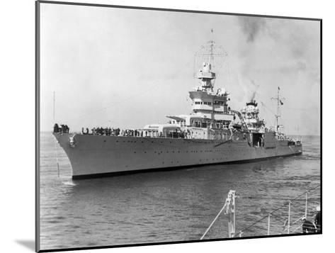 American Heavy Cruiser Uss Indianapolis--Mounted Photographic Print