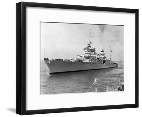 American Heavy Cruiser Uss Indianapolis--Framed Art Print