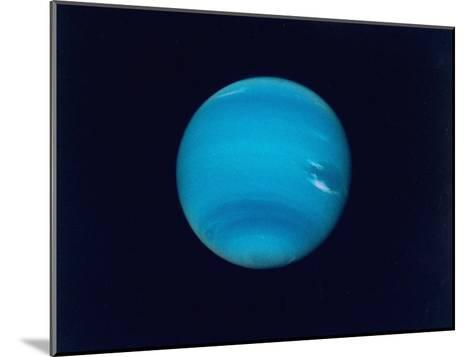 Excellent Narrow-Angle Camera Views of the Planet Neptune Taken from Voyager 2 Spacecraft--Mounted Photographic Print