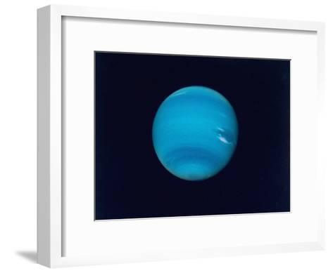 Excellent Narrow-Angle Camera Views of the Planet Neptune Taken from Voyager 2 Spacecraft--Framed Art Print