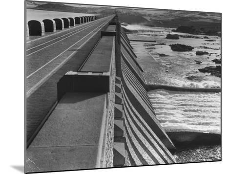 Aswan Dam, Built at the First Cataract of the Nile River--Mounted Photographic Print