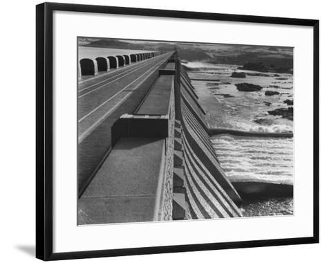 Aswan Dam, Built at the First Cataract of the Nile River--Framed Art Print