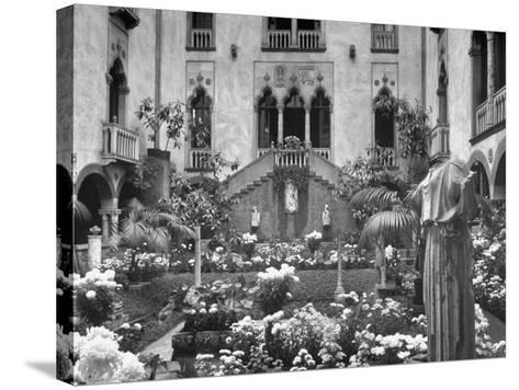 Garden of Isabella Stewart Gardner's Home--Stretched Canvas Print