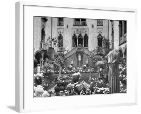 Garden of Isabella Stewart Gardner's Home--Framed Art Print