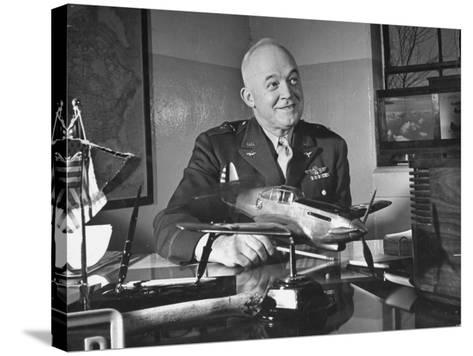 General Henry H. Arnold Posing for a Picture at the Signing of the Repeal of the Neutrality Bill--Stretched Canvas Print
