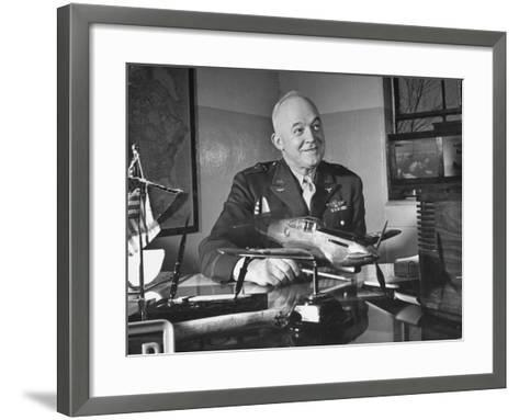 General Henry H. Arnold Posing for a Picture at the Signing of the Repeal of the Neutrality Bill--Framed Art Print