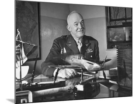 General Henry H. Arnold Posing for a Picture at the Signing of the Repeal of the Neutrality Bill--Mounted Photographic Print