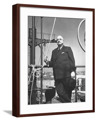 Ship Builder Henry J. Kaiser-Hansel Mieth-Framed Art Print
