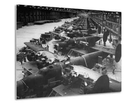 Men Working on Consolidated Aircrafts-Dmitri Kessel-Metal Print