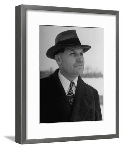 Portrait of Polygamist Charles Zitting, Alleged to Have Six Wives and Twenty-Six Children--Framed Art Print