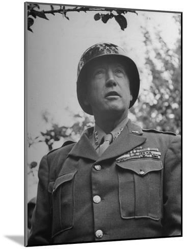 General George S. Patton in Normandy, France-Ralph Morse-Mounted Photographic Print