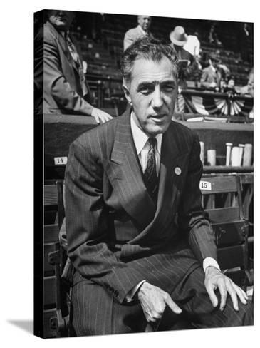 Executive Ford C. Frick, Appearing at a Baseball Game at Bb Park--Stretched Canvas Print