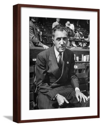 Executive Ford C. Frick, Appearing at a Baseball Game at Bb Park--Framed Art Print