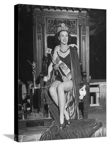 Atlantic City Beauty Contest Winner Venus Ramey-Peter Stackpole-Stretched Canvas Print
