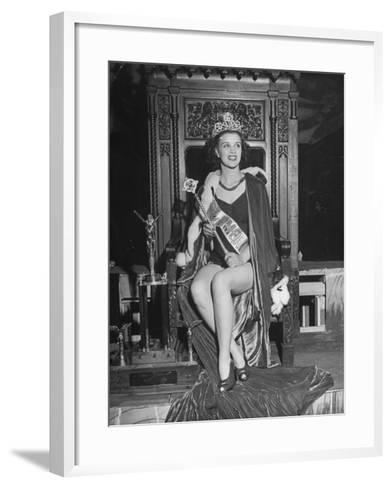 Atlantic City Beauty Contest Winner Venus Ramey-Peter Stackpole-Framed Art Print