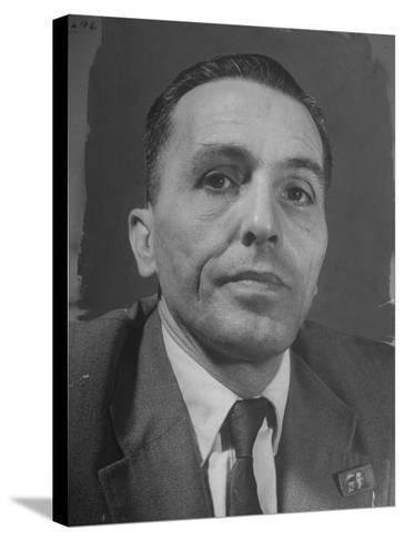 Portrait of Communist Leader Luis Carlos Prestes--Stretched Canvas Print