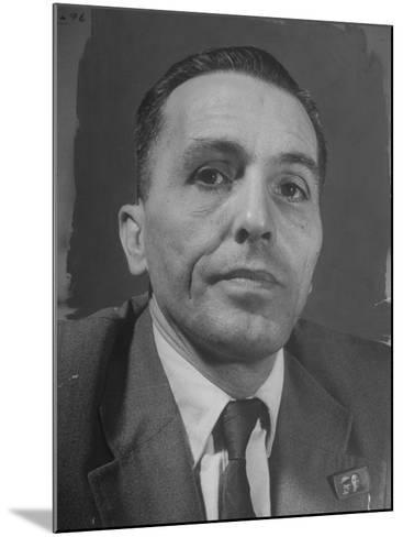 Portrait of Communist Leader Luis Carlos Prestes--Mounted Photographic Print