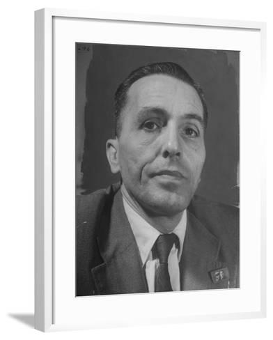 Portrait of Communist Leader Luis Carlos Prestes--Framed Art Print
