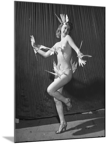 """Nude Burlesque Dancer from """"Folies Bergere""""-Ralph Morse-Mounted Photographic Print"""