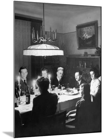Family and their Guests Having Passover Eve Seder--Mounted Photographic Print