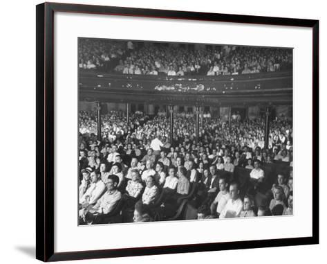 The Audience at the Grand Ole Opry-Ed Clark-Framed Art Print