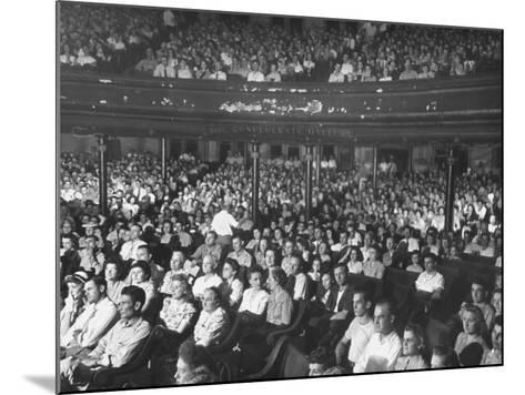 The Audience at the Grand Ole Opry-Ed Clark-Mounted Photographic Print