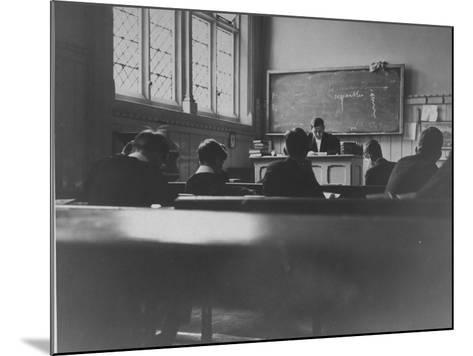 At Eton College, Students Attending a French Lesson--Mounted Photographic Print