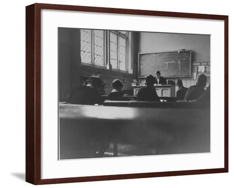 At Eton College, Students Attending a French Lesson--Framed Art Print