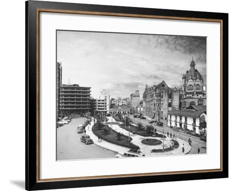 Exterior of the Government Palace on Nutibara Square-Dmitri Kessel-Framed Art Print