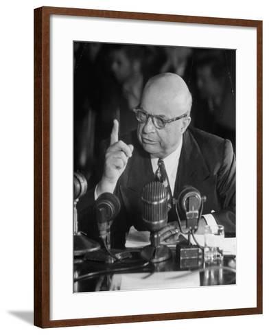 Henry J. Kaiser Testifying at the Howard Hughes Trial--Framed Art Print