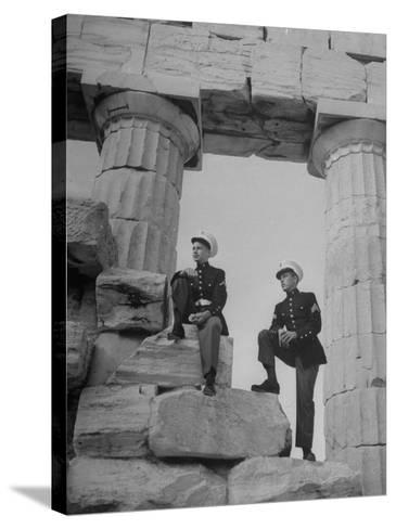 US Marines Sightseeing in Athens--Stretched Canvas Print