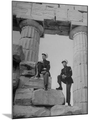 US Marines Sightseeing in Athens--Mounted Photographic Print