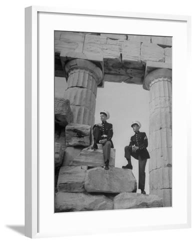 US Marines Sightseeing in Athens--Framed Art Print