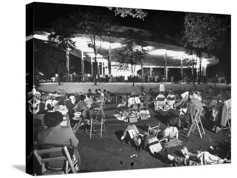 Outdoor Concert-Ralph Crane-Stretched Canvas Print
