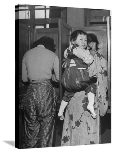 People Voting During Japanese Elections-Alfred Eisenstaedt-Stretched Canvas Print