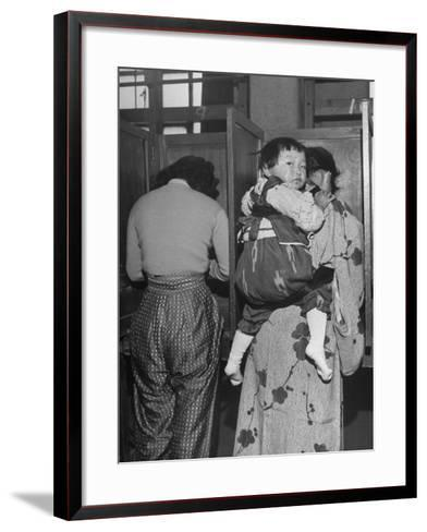 People Voting During Japanese Elections-Alfred Eisenstaedt-Framed Art Print
