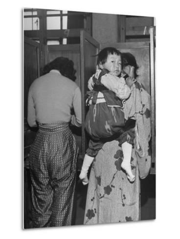 People Voting During Japanese Elections-Alfred Eisenstaedt-Metal Print