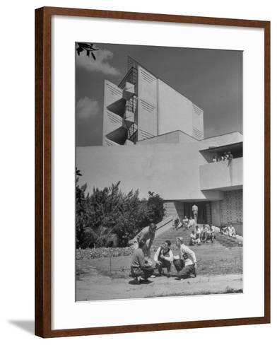Students on Campus of Florida Southern University Designed by Frank Lloyd Wright-Alfred Eisenstaedt-Framed Art Print