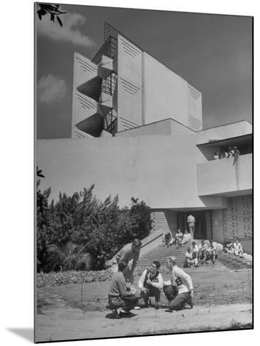 Students on Campus of Florida Southern University Designed by Frank Lloyd Wright-Alfred Eisenstaedt-Mounted Photographic Print