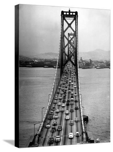 Traffic on the San Francisco Oakland Bay Bridge-Carl Mydans-Stretched Canvas Print