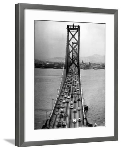 Traffic on the San Francisco Oakland Bay Bridge-Carl Mydans-Framed Art Print
