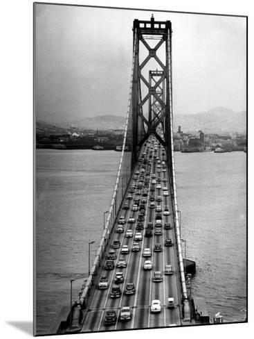 Traffic on the San Francisco Oakland Bay Bridge-Carl Mydans-Mounted Photographic Print
