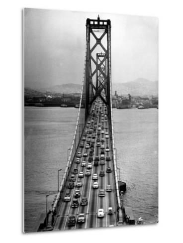 Traffic on the San Francisco Oakland Bay Bridge-Carl Mydans-Metal Print