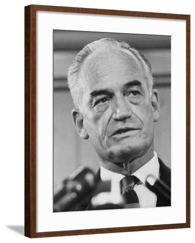 Sen. Barry Goldwater Campaigning for Gop Presidential Nomination at the Illinois State Convention--Framed Art Print