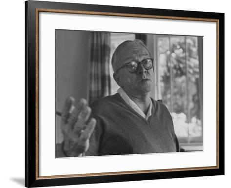 Author Alan Paton at Home--Framed Art Print
