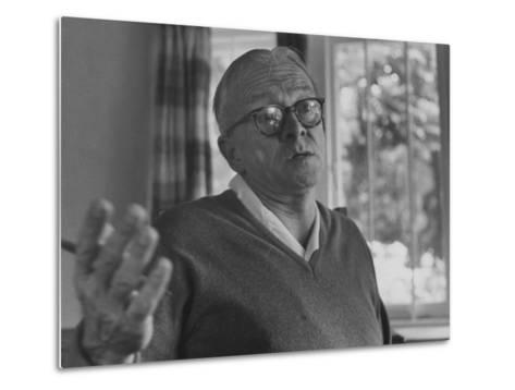 Author Alan Paton at Home--Metal Print