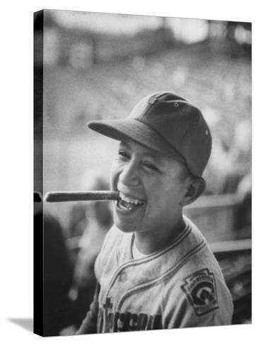 Mexico Little League Team Member after Winning the Championship Game--Stretched Canvas Print