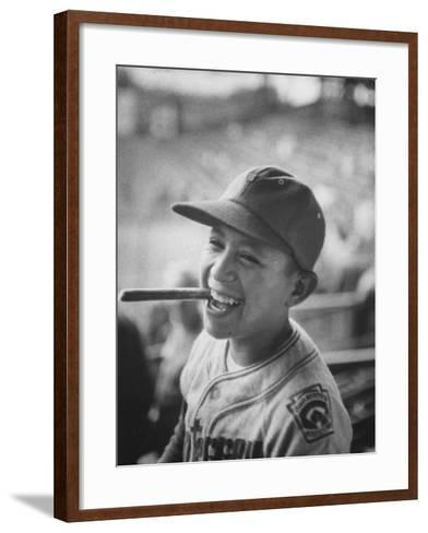 Mexico Little League Team Member after Winning the Championship Game--Framed Art Print
